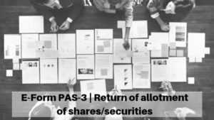 E-Form PAS-3 | Return of allotment of shares/securities