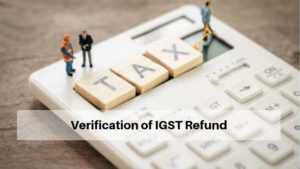 Verification of IGST Refund