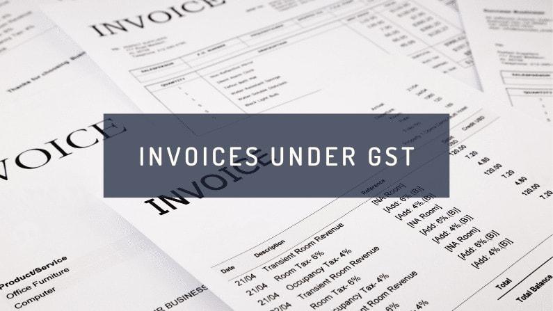 Invoices under GST