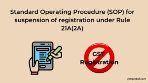 Standard Operating Procedure (SOP) for suspension of registration