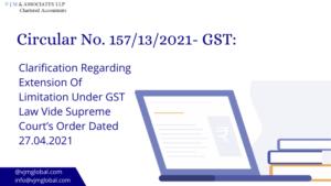 Clarification Regarding Extension Of Limitation Under CGST Act