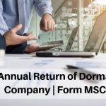 Annual Return of Dormant Company | Form MSC 3