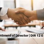 Appointment of Director | DIR 12 E FORM