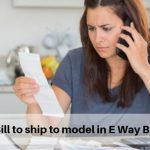Bill to ship to model in E Way Bill