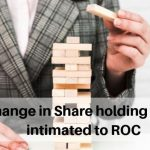 Change in Share holding to be intimated to ROC