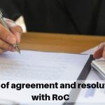 Filing of agreement and resolutions with RoC