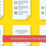 Information on Tax Invoice - GST