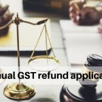 manual GST refund application